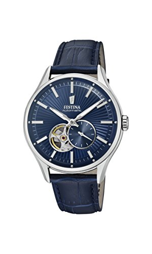 Festina Herren Analog Automatik Uhr mit Leder Armband F16975/2