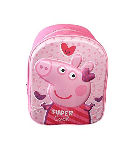 | Mochilas Peppa Pig 3D Escolar para Niñas y Niños de 3 Años Material Escolar Vuelta al Cole con Peppa Pig