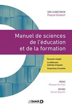 Manuel de sciences de l'éducation et de la formation (2021)