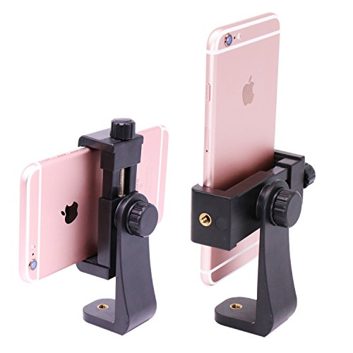 Ulanzi Phone Tripod Mount,Smartphone Clip Adapter, Vertical Bracket,Rotatable Cell Phone Holder for iPhone 11 Pro Max XS Max X 8 Plus Samsung Google OnePlus Ring Light