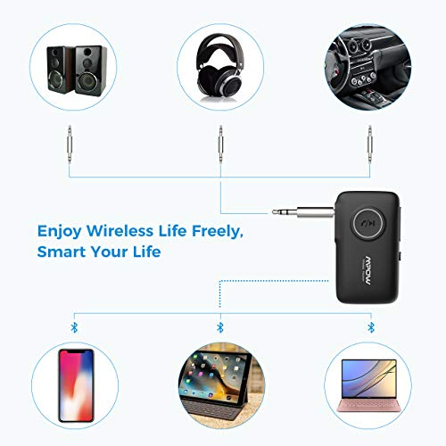 Product Image 1: Mpow BH298A Bluetooth Receiver, Aux Wireless Bluetooth with Bluetooth 5.0 for Wired Speakers/Headphones/Home Music Streaming Stereo System, Protable Bluetooth Car Adapter, Easy Control On/Off Slider