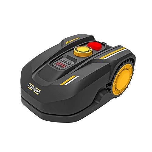 LANDXCAPE Robot Tondeuse sans Fil 600m² LX790i, Système de Coupe/Mulching à 3 Lames, Tondeuse à Gazon Connectée, Détecteur de Choc et de Pluie, Charge Latérale Affichage Numérique