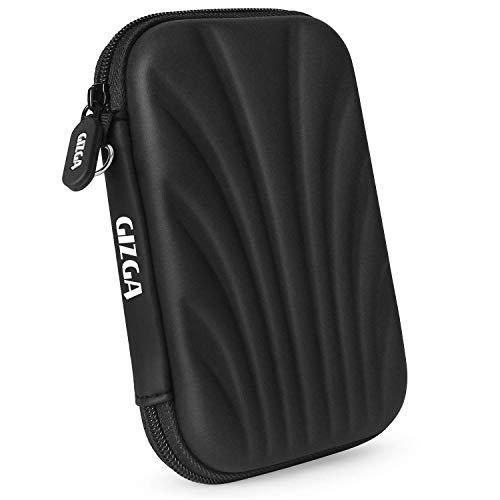 GIZGA 2.5' Hard Drive Case Self Tattoo Hard Shell (Black)
