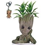 Kyhon Baby Groot Maceta - Maravillosa Figura de accin de Guardians of The Galaxy para Plantas y bolgrafos y Plumas Decoracin de Habitaciones para nios de Familia, macetas, Regalos para nios
