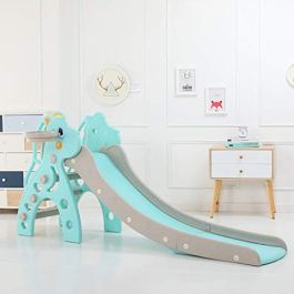 Kimanli Children's Slide, Kids Indoor and Outdoor Slide Frame Climbing Stairs Baby Amusement Park Accessories