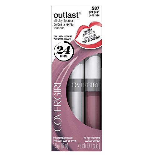COVERGIRL Outlast All-Day Moisturizing Lip Color Pink Pearl 587, .13 oz, Old Version (packaging may vary)