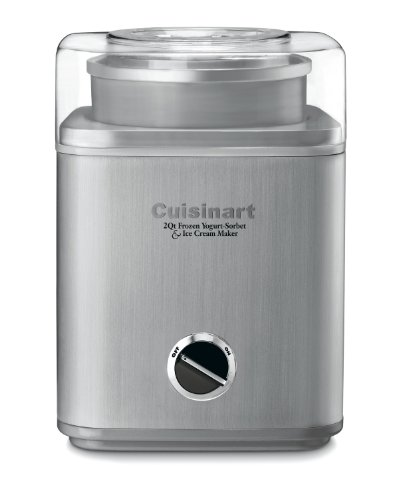 Cuisinart ICE-30BC Pure Indulgence 2-Quart Automatic Frozen Yogurt, Sorbet, and Ice Cream Maker - Silver (ICE-30BCP1)