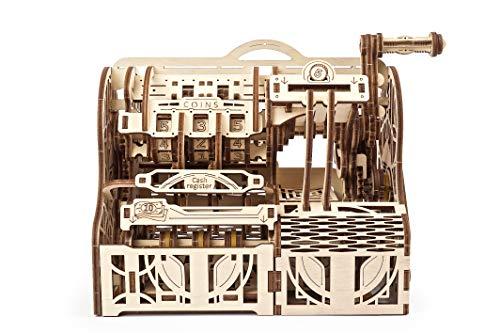 UGEARS 3D Puzzle Erwachsene Registrierkasse - 3D Modellbausatz - DIY Bausatz 3D Modellbaukasten - Sparkässchen Mechanische Modell - Kreatives Geschenk 3D Holzpuzzle für Erwachsene und Jugendliche