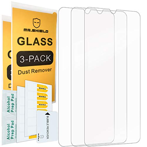 [3-Pack]-Mr.Shield for SamsungGalaxyA20 [Tempered Glass] Screen Protector with Lifetime Replacement