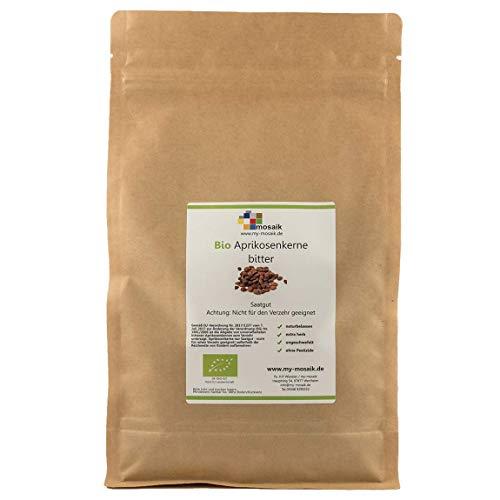 """Bio Aprikosenkerne bitter Qualität """"extra herb"""" - hoher Bitteranteil, naturbelassen, wenig Bruchanteil, ungeschwefelt, ohne Pestizide, Saatgut 1000g"""