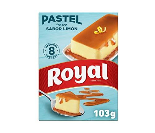 Royal Pastel Fresco Sabor Limón con Caramelo Líquido 8 Rac