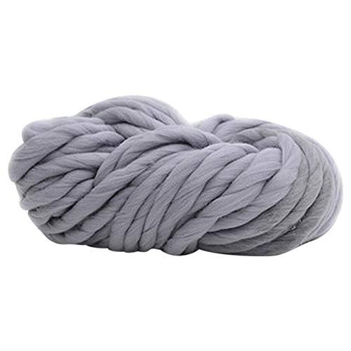 Amesii - Colchoneta de lana gruesa gigante para tejer a mano