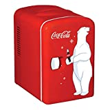 Coca-Cola KWC-4 4 Liter/6 Can Portable Fridge/Mini Cooler for Food, Beverages, Skincare-Use at...