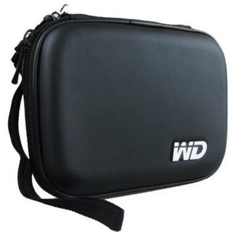 Gadget Deals Hard Disk Cover/ Hard Disk Drive Pouch case for 2.5' HDD Cover WD Seagate Slim Sony Dell Toshiba (Black)