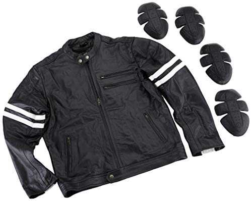 Australian Bikers Gear chaqueta moto Cafe Racer en color negro envejecido y rayas rojas oxblow con protecciones homologadas y extraíbles en talla M Australian Bikers Gear chaqueta moto Cafe Racer en color negro envejecido y rayas blancas con protecciones homologadas y extraíbles