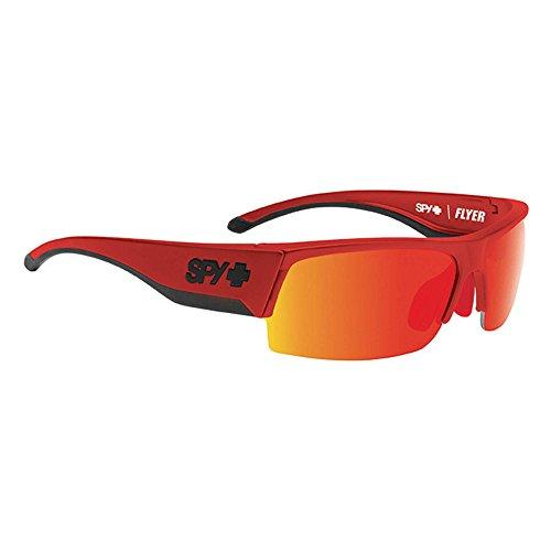 Spy Flyer Black - Occhiali da sole da uomo Red - Happy Gray Green W/Red Spectra Taglia unica
