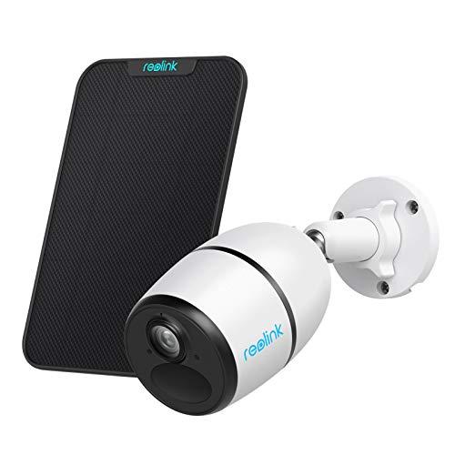Reolink 3G / 4G Sim Cámara inalámbrica con batería para exteriores, cámara de visión nocturna de 1080p, sensor de movimiento PIR de audio de 2 vías, con ranura para tarjeta micro SD, Reolink Go con panel solar