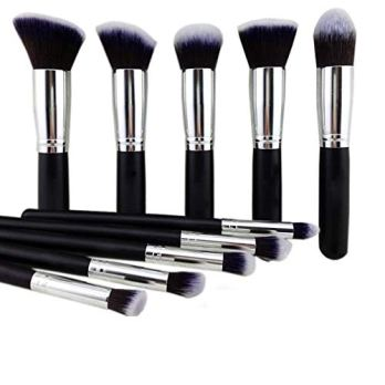 NAKED PLUS Makeup Brushes Set Tool Pro Foundation Eyeliner Eyeshadow (Black)