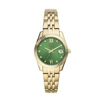 Fossil Women's Scarlette Mini Quartz Watch with Stainless Steel Strap, Gold, 16 (Model: ES4903)