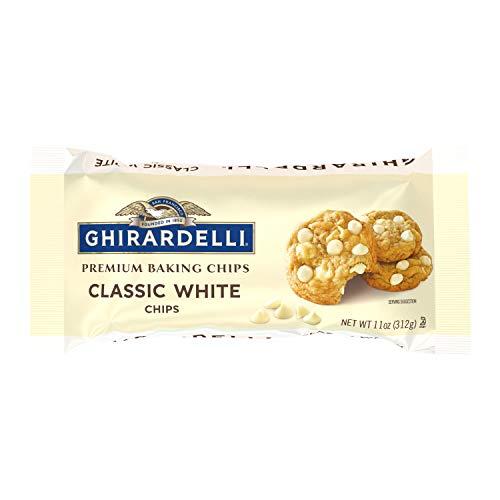 Ghirardelli Classic White Chocolate Premium Baking Chips - 11 oz. (312g), 12 bags
