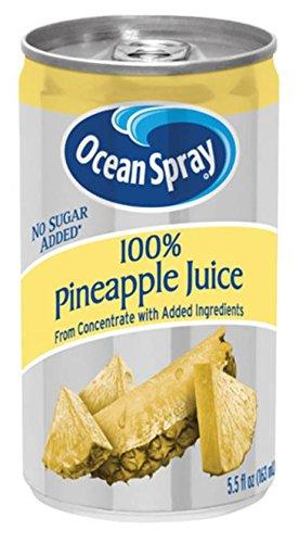 Ocean Spray 100% Pineapple Juice,  5.5 Ounce Mini Cans (Pack...