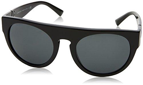 41pCrZ jvbL Model: VE4333 Style: Fashion Round Temple/Frame Color: Black - 523287 Lens Color: Gray