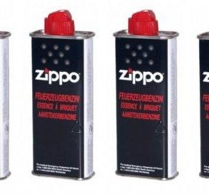 4pieza Zippo Original Mechero Gasolina 125ml 6