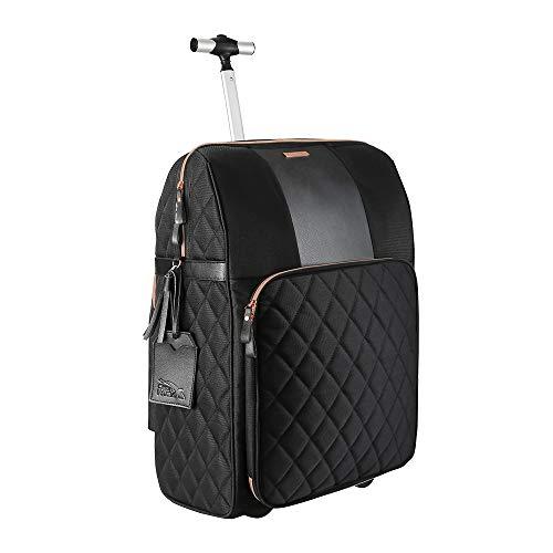 Cabin Max Handgepäck 55 x 40 x 20 cm mit integriertem Fach für die Handtasche, inklusive Laptop und MacBook Fach – Perfekt als Kabinengepäck mit Rollen, Ultra leicht