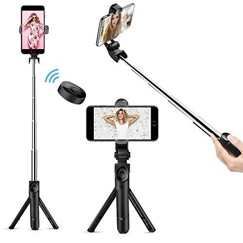 doosl Perche Selfie Bluetooth, Selfie Stick Trépied avec 360° Bâton...