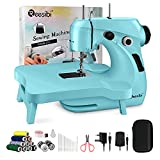 Reesibi Sewing Machine, Mini Sewing Machine for Beginners with Extension Table, Portable Electric...