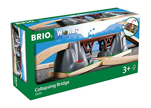 BRIO World - 33391 Collapsing Bridge | 3 Piece Toy Train Accessory for Kids Age 3 and Up