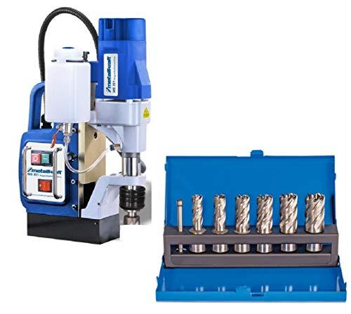 Metallkraft Magnetbohrmaschine MB 351 im Set mit 6 Kernbohrer 12/14/16/18/20 und 22 mm