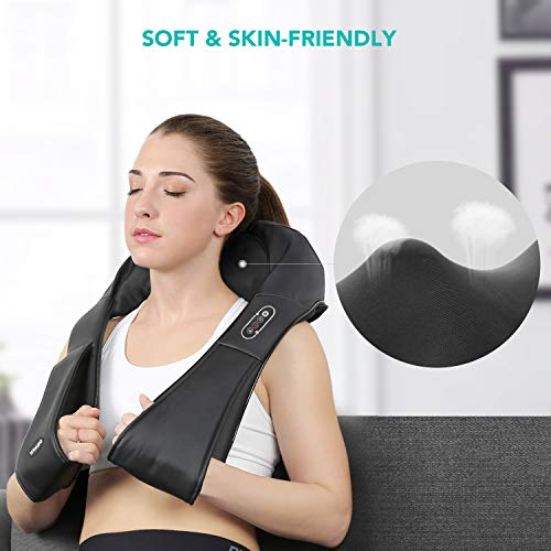 Naipo Shiatsu Back and Neck Massager with Heat Deep Kneading Massage for Neck, Back, Shoulder, Foot and Legs, Use at Home, Car, Office 6