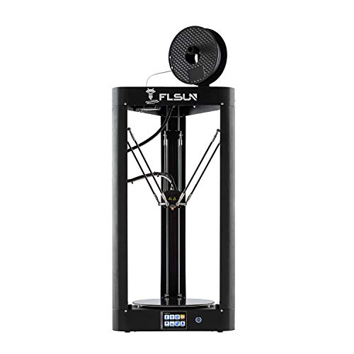 FLSUN QQ-S 90% Pre-Assembled Delta 3D Printer Lattice galss Platform Large Printing Size φ255X360mm, Auto Leveling,Touch Screen,WiFi Remote Control,Filament 1.75 mm PLA