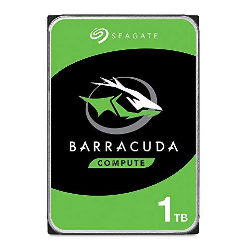 Seagate BarraCuda, 1 TB, Disco duro interno, HDD, 3,5', SATA 6 GB/s, 7200 RPM, 64 MB, caché para ordenador de sobremesa y PC (ST1000DM010)