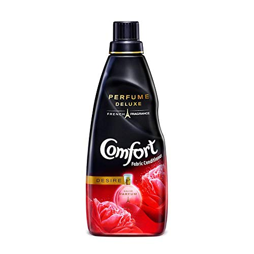 Comfort Deluxe, After Wash Fabric Conditioner, Desire, Crafted From French Perfume, Enriched With Authentic Flowers, For Lasting Fragrance, 850 ml