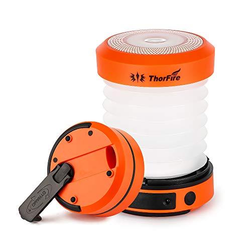 ThorFire Campinglampe LED Faltbare Laterne, Dynamo...