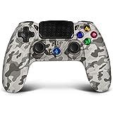 Mando para PS4, Proslife Wireless Pro Game Controller para Ps4 / Pro, joystick de seis ejes con panel táctil con doble vibración, batería recargable, Diseño ergonómico -Camuflaje