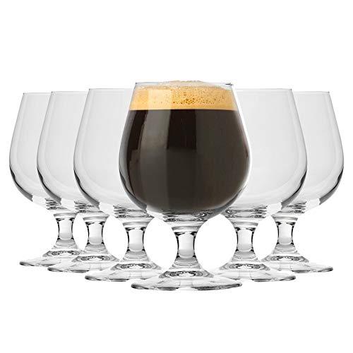 Bormioli Rocco Brandy Birra Artigianale Ale Bicchieri Set con STEM - 530ml - Confezione da 12