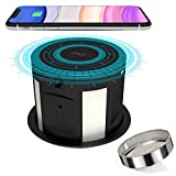 Pop Up Socket Desk Recessed Power Strip, Kitchen Counter Automatic Pop Up Outlet with Phone Wireless Charger Station, Surge Protector Hidden Pop-Up Desktop Power Dock.