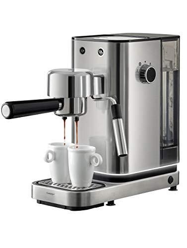 WMF Lumero Siebträger Espressomaschine 1400 Watt, 3 Einsätzen, für 1-2 Tassen Espresso, auch für Pads, 15 bar, Tassenabstellfläche, Milchaufschäumdüse, edelstahl matt