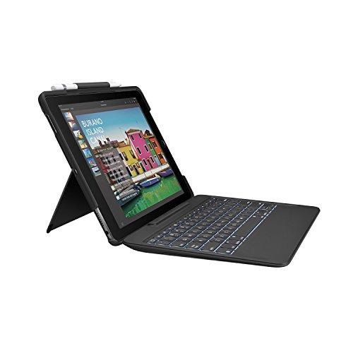 Logitech Slim Combo Keyboard Folio Case for iPad Pro 10.5-Inch - Black (Renewed)