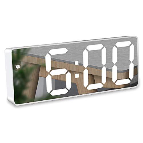 HAL Réveil Miroir, Réveil Numérique avec Affichage à LED de 6,5'de...