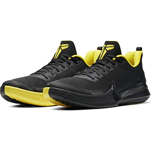 Nike Men's Kobe Mamba Rage Basketball Shoe Black/Anthracite/Opti Yellow Size 10.5 M US