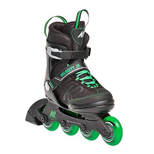 K2 Skates Jungen Inline Skate Velocity Jr B — black - green — L (EU: 35-40 / UK: 3-7 / US: 4-8) — 30E0281