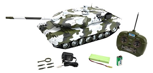 Carson 500907196 - Carro armato Leopard 2A6 radiocomandato, pronto da usare, scala 1:16, 27 MHz