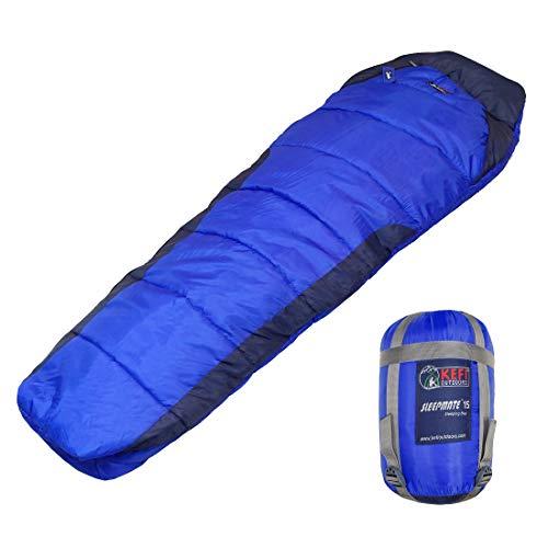 Kefi Outdoors Lightweight 3-Season Sleeping Bag (Royal Blue & Navy)