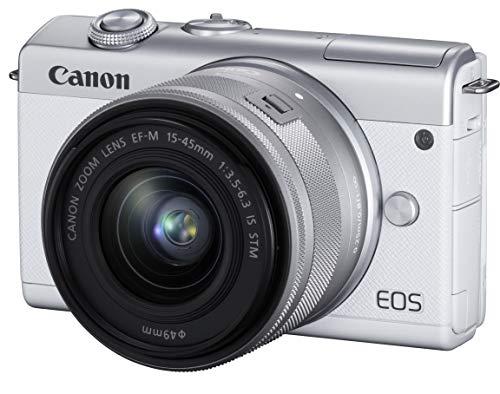 ミラーレスカメラ EOS M200 (ホワイト)・EF-M15-45 IS STM レンズキット