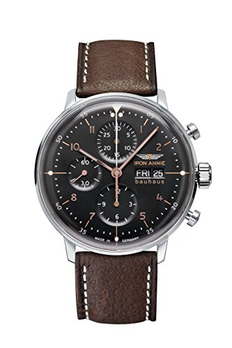 Junkers Herren-Armbanduhr Analog Automatik One Size, schwarz, braun