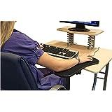 HEXEK Apoyabrazos para computadora para Escritorio, apoyabrazos Ajustable para Escritorio de computadora Extensor de apoyabrazos ergonómico Soporte Giratorio para Alfombrilla de ratón para Mesa, o
